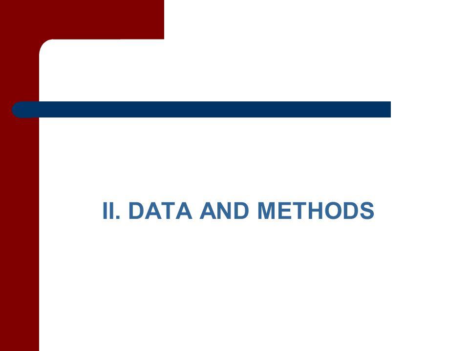 II. DATA AND METHODS