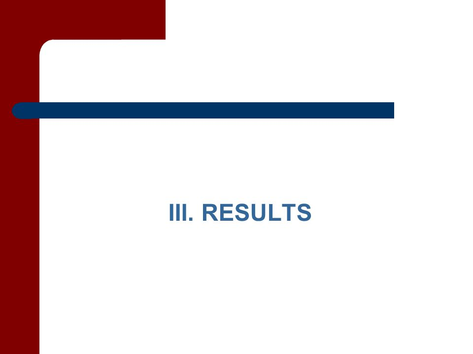 III. RESULTS
