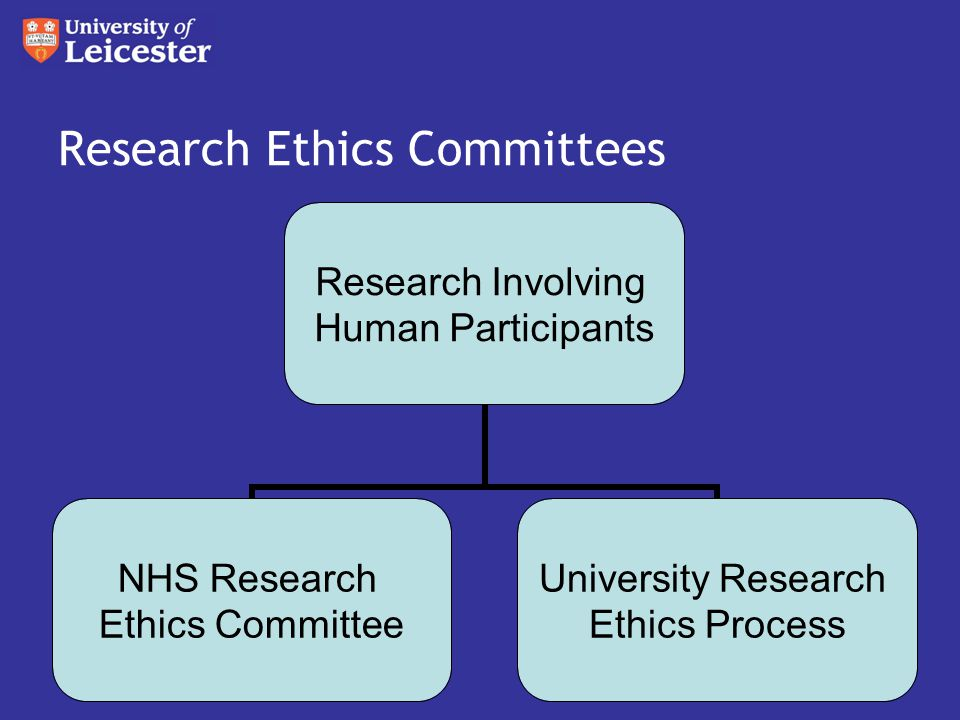 Research Ethics Committees Research Involving Human Participants NHS Research Ethics Committee University Research Ethics Process