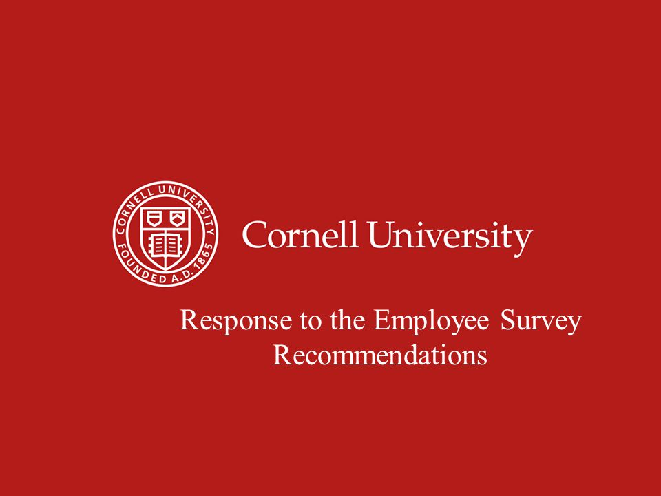 Recognition of Excellent Work 49% of Employees agree that Cornell recognizes contributions of staff