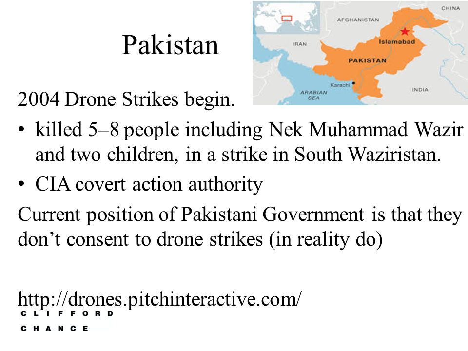 Pakistan 2004 Drone Strikes begin.