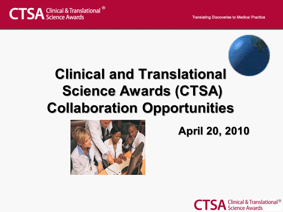 New Collaboration Opportunity How to submit a collaboration opportunity CTSA welcomes project ideas from all interested CTSAs CTSA Institutions are invited to post an opportunity for collaboration on CTSAweb.org Please complete the below forms and submit to: CTSABB@mail.nih.govCTSABB@mail.nih.gov CTSA Collaboration Project Information Form CTSA Collaboration Project COI Information Form Bulletin Board: Collaboration Opportunities are now posted on the public CTSAweb.org site CTSA institutions have agreed to voluntarily post research projects that provide possible opportunities for collaboration with other interested parties.