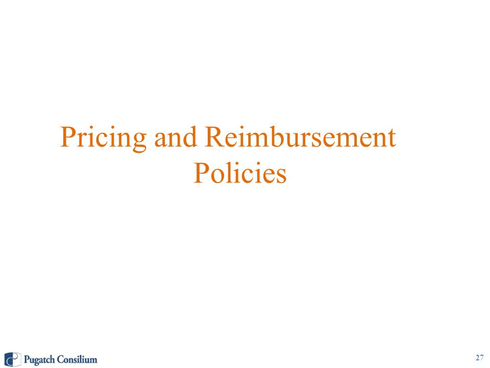 Pricing and Reimbursement Policies 27