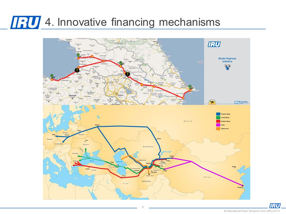 8 4. Innovative financing mechanisms