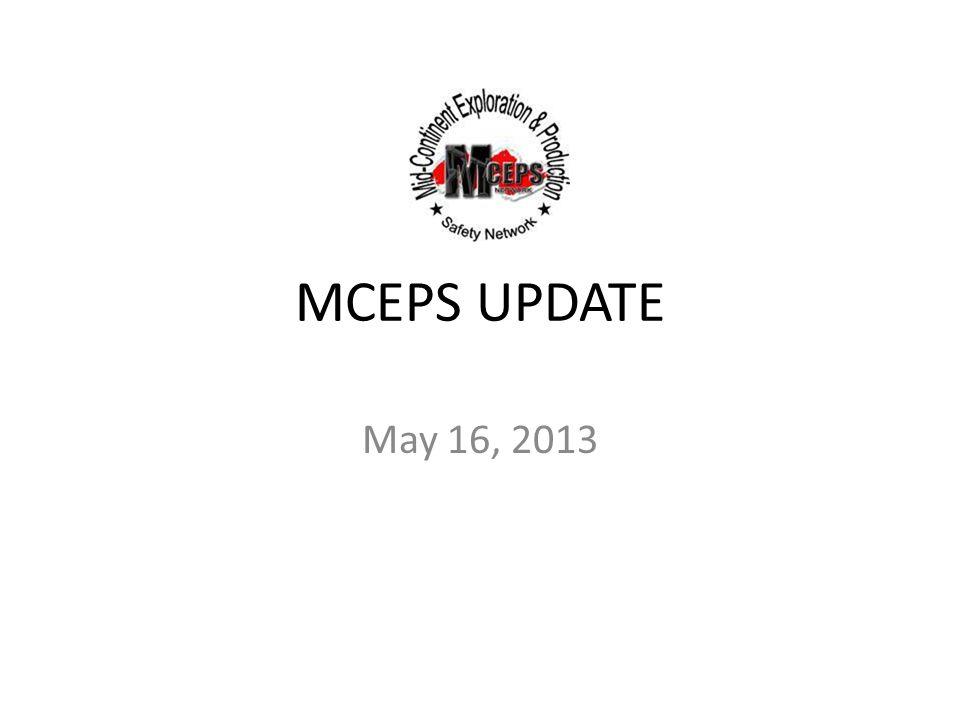 MCEPS UPDATE May 16, 2013