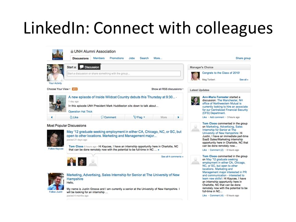 LinkedIn: Connect with colleagues
