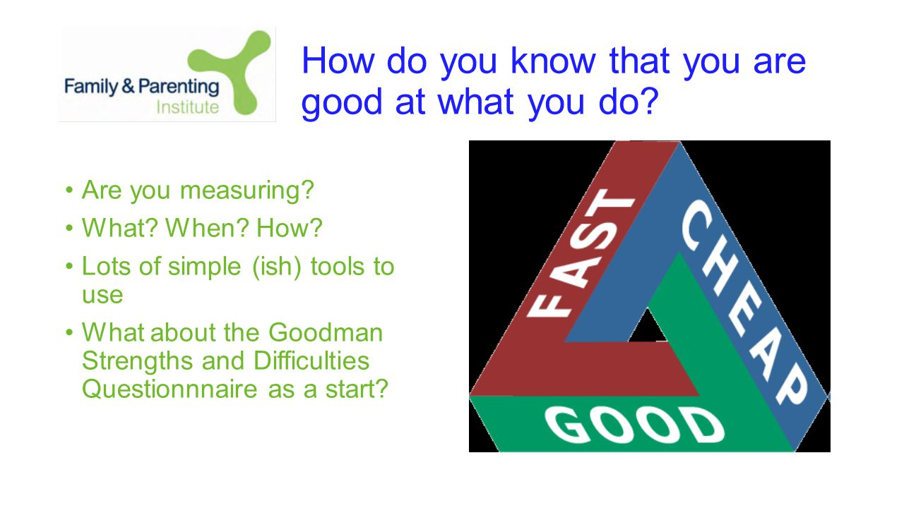 How do you know that you are good at what you do. Are you measuring.