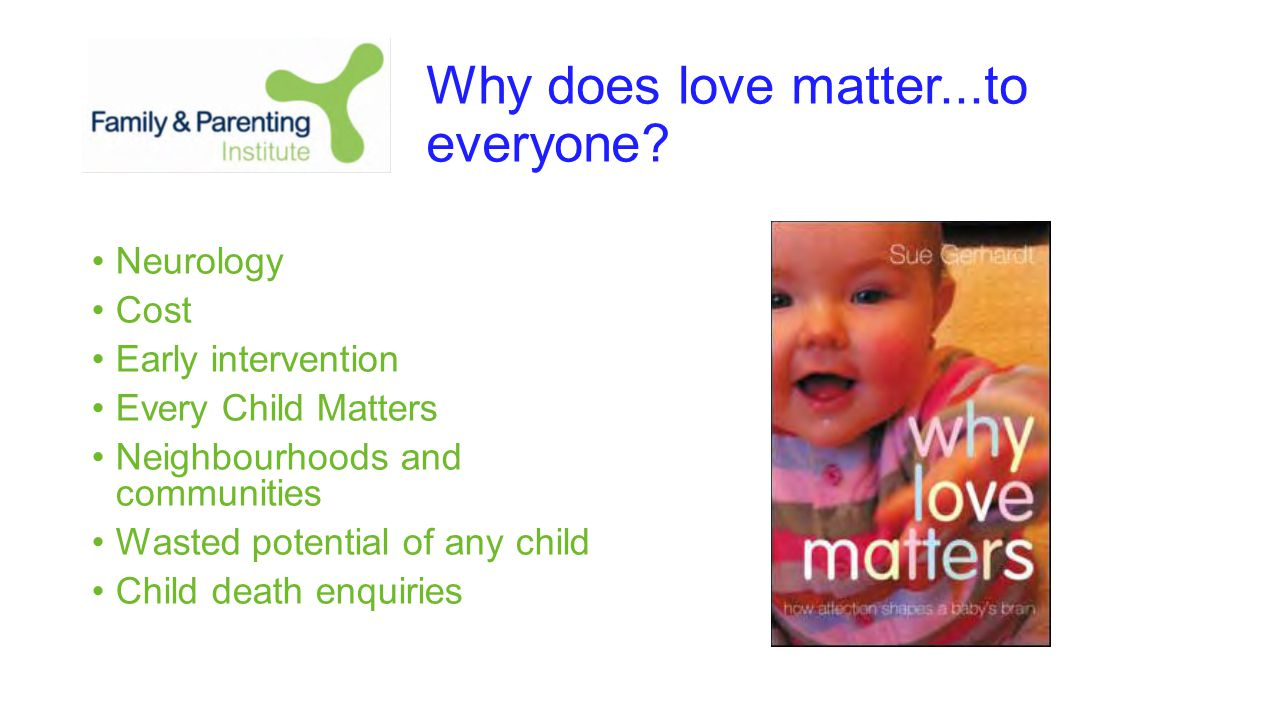 Why does love matter...to everyone.