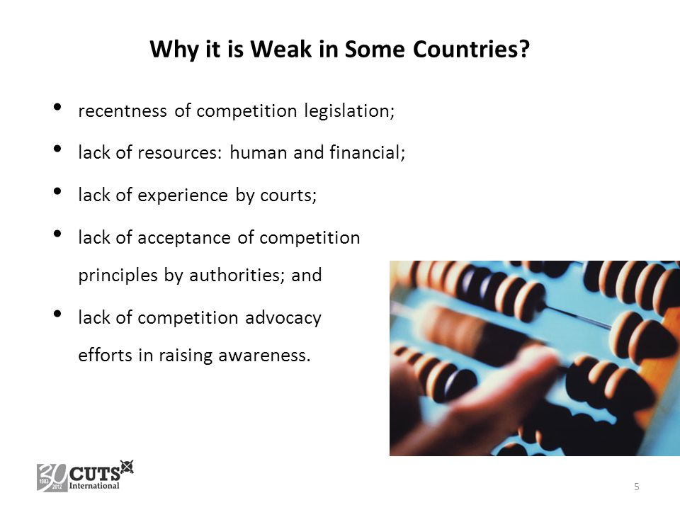 Why it is Weak in Some Countries.