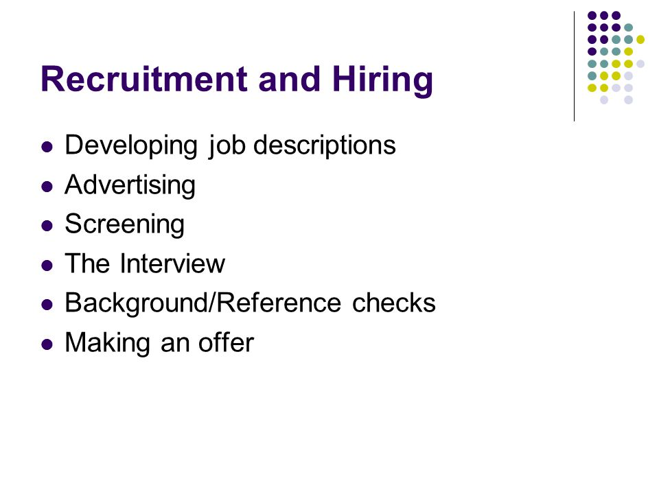 Background/Reference Checks Under the FCRA, employers obtaining consumer reports are required to: 1.