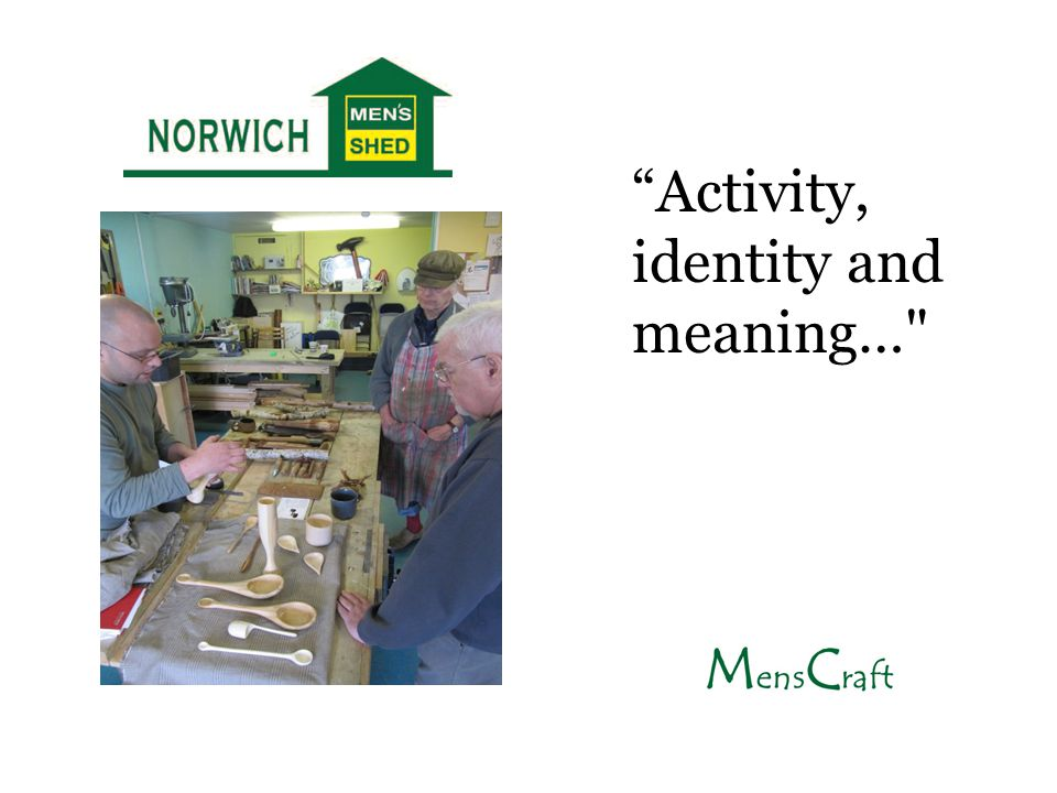 """Activity, identity and meaning…"