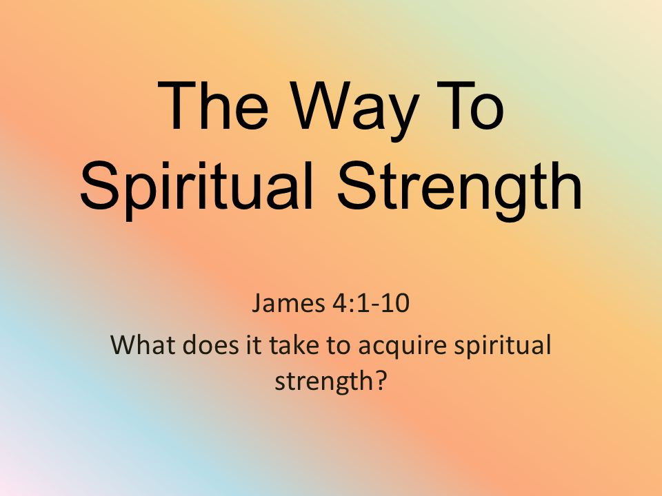 Introduction Spiritual health and fitness is no secret.