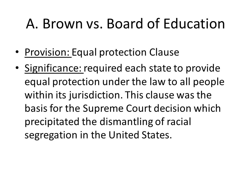 A. Brown vs.