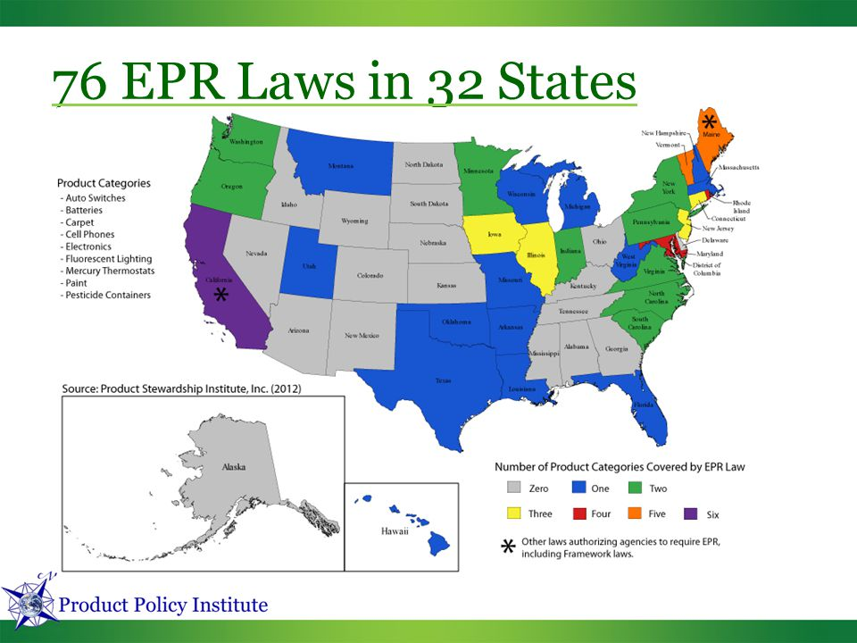76 EPR Laws in 32 States