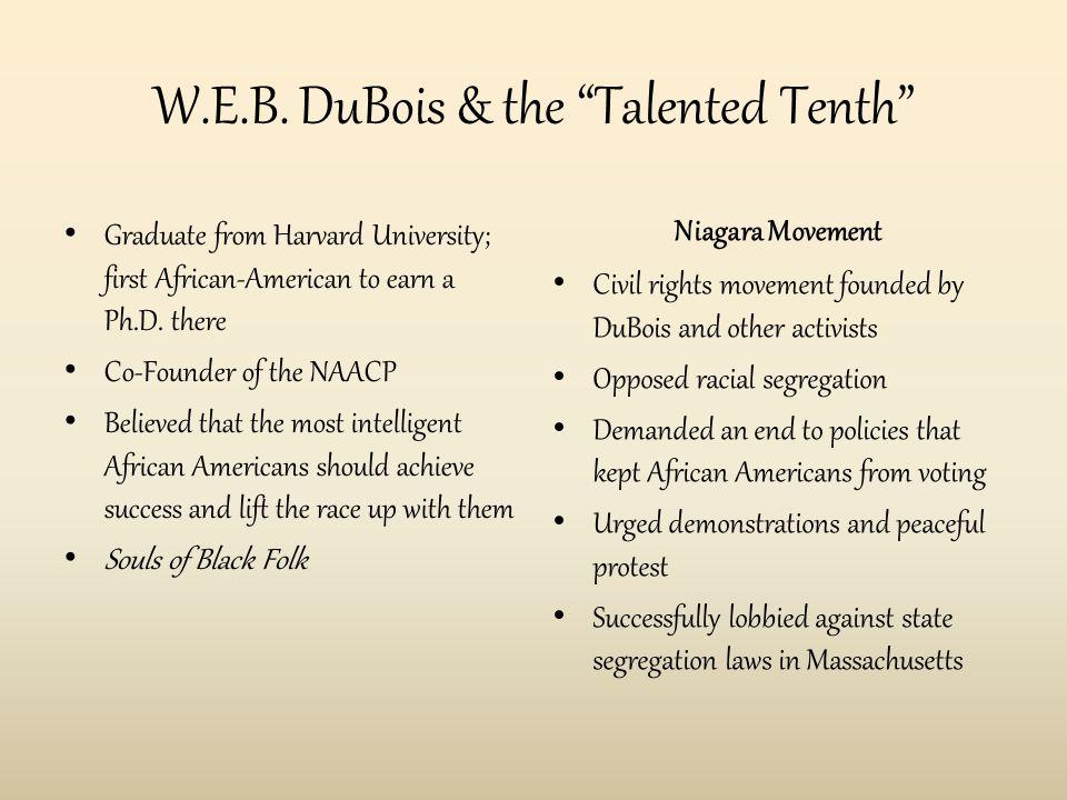Washington & DuBois Booker T. Washington W.E.B. DuBois
