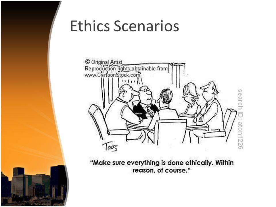 Ethics Scenarios