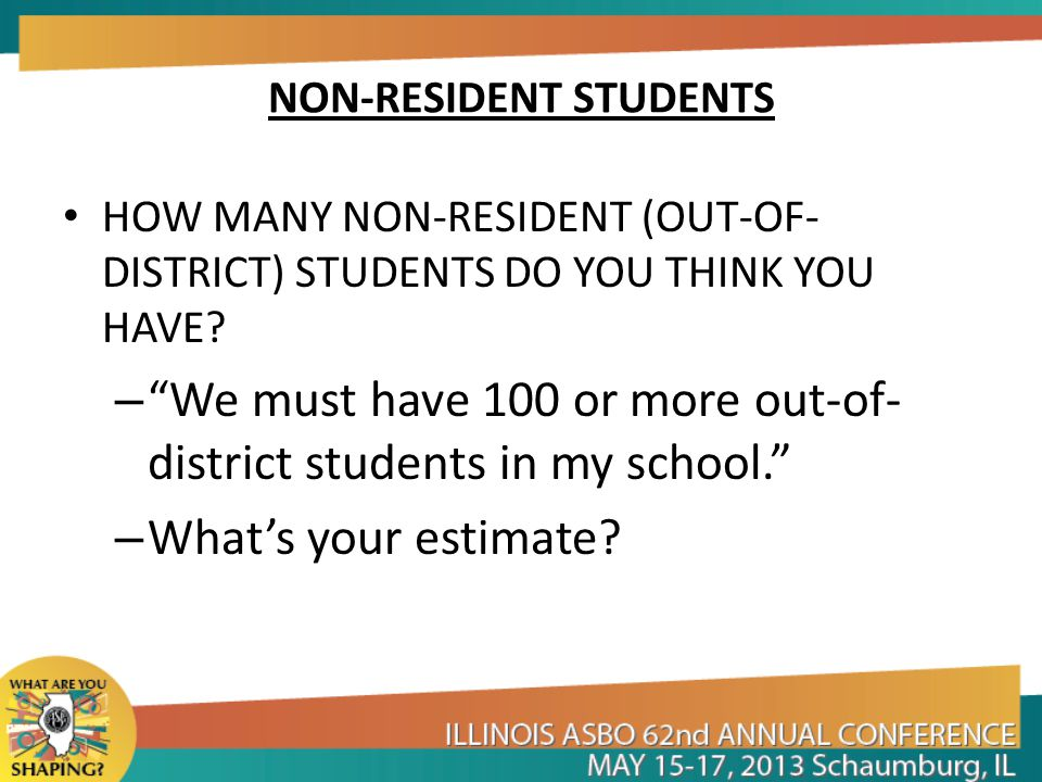 NON-RESIDENT STUDENTS WHAT ARE YOUR OPTIONS.