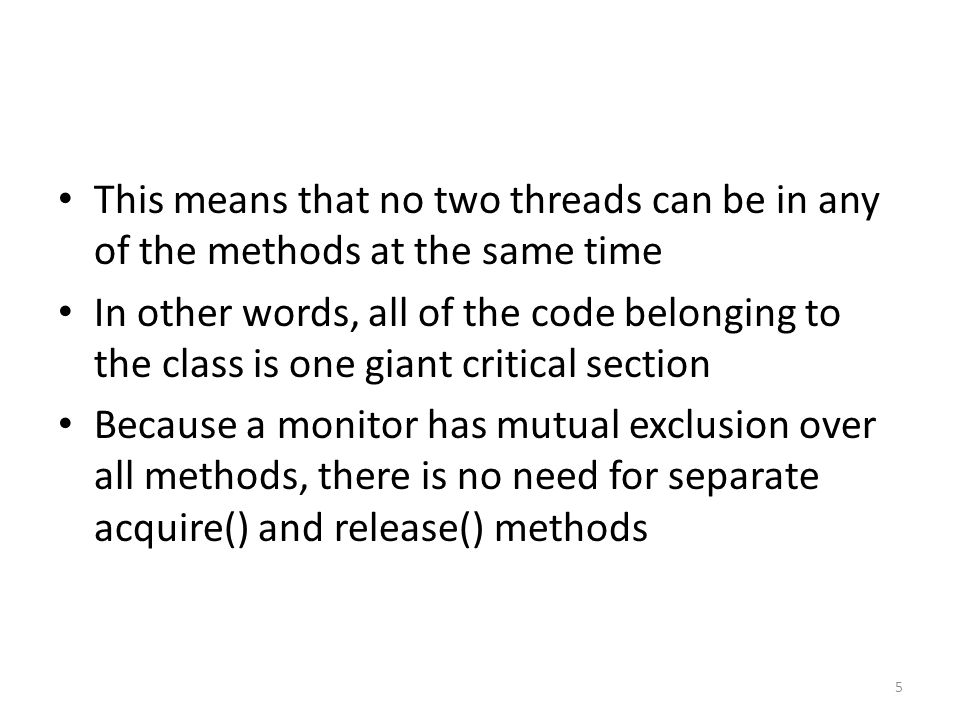 Stage 2: You use Java synchronization with the wait(), notify(), and notifyAll() methods of the Object class.