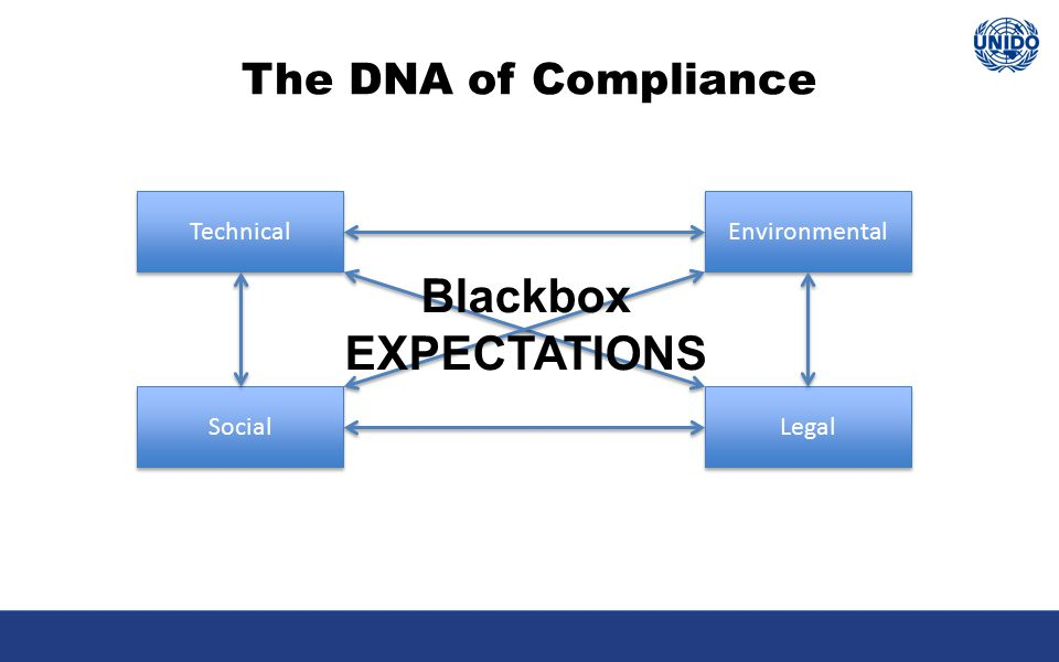 The DNA of Compliance Technical Social Legal Environmental Blackbox EXPECTATIONS