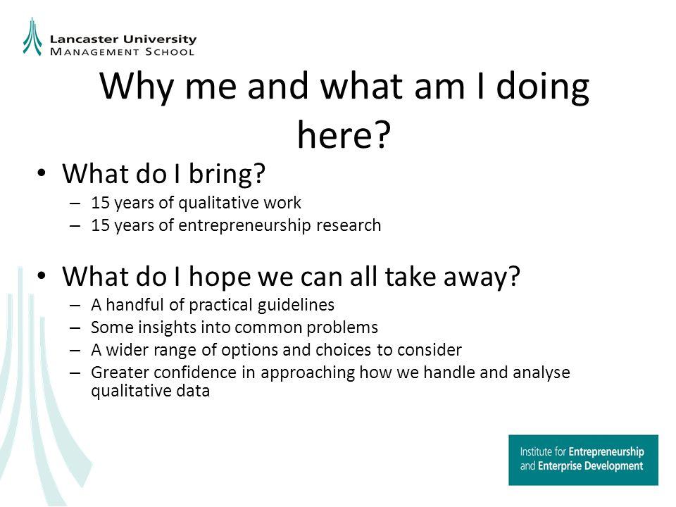 How did I become a qualitative researcher.