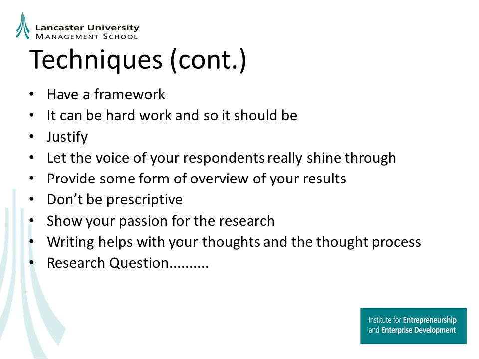 Some quick tips Write Focus on evidence Pick out the sexiest and most relevant bits Use quotes Honesty Be convincing