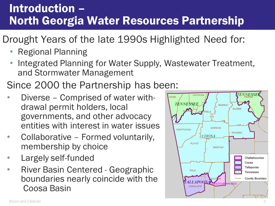 Since 2000 the Partnership has been: Diverse – Comprised of water with- drawal permit holders, local governments, and other advocacy entities with int