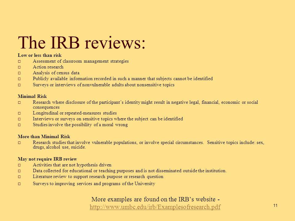 IRB process 10