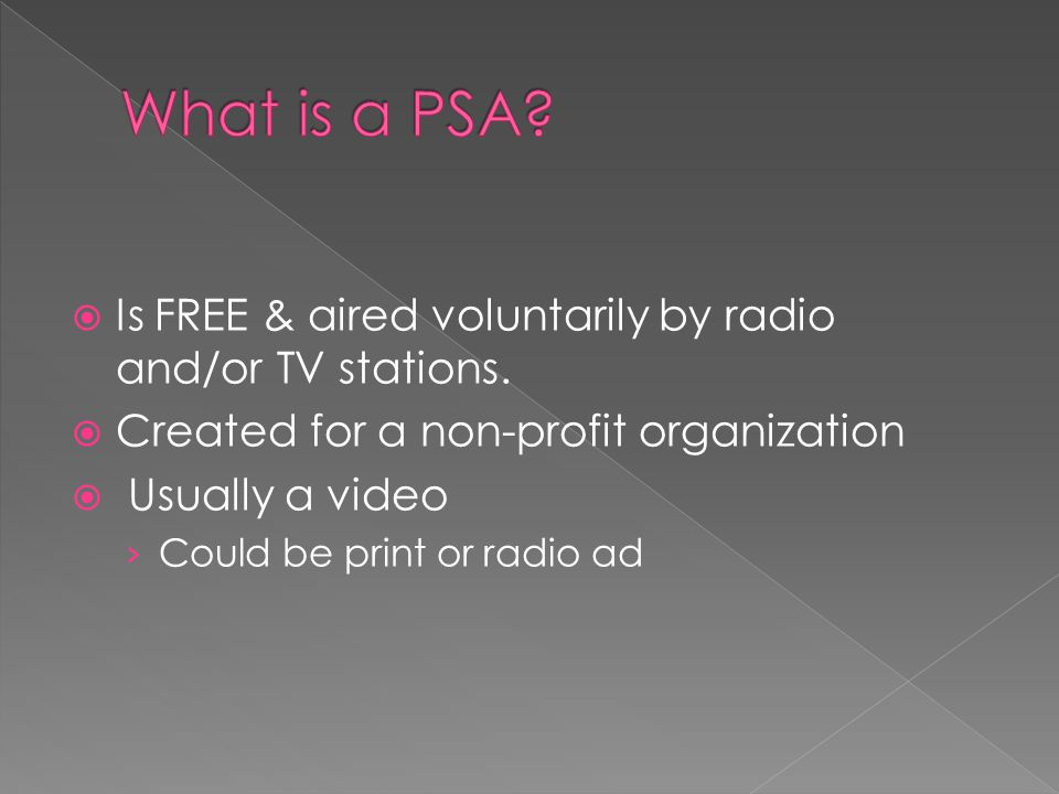  Is FREE & aired voluntarily by radio and/or TV stations.