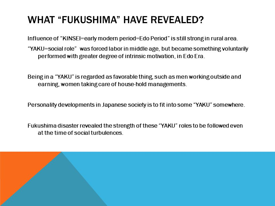 WHAT FUKUSHIMA HAVE REVEALED.