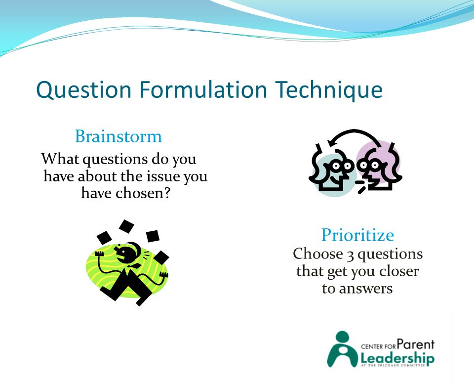 Question Formulation Technique Brainstorm What questions do you have about the issue you have chosen.