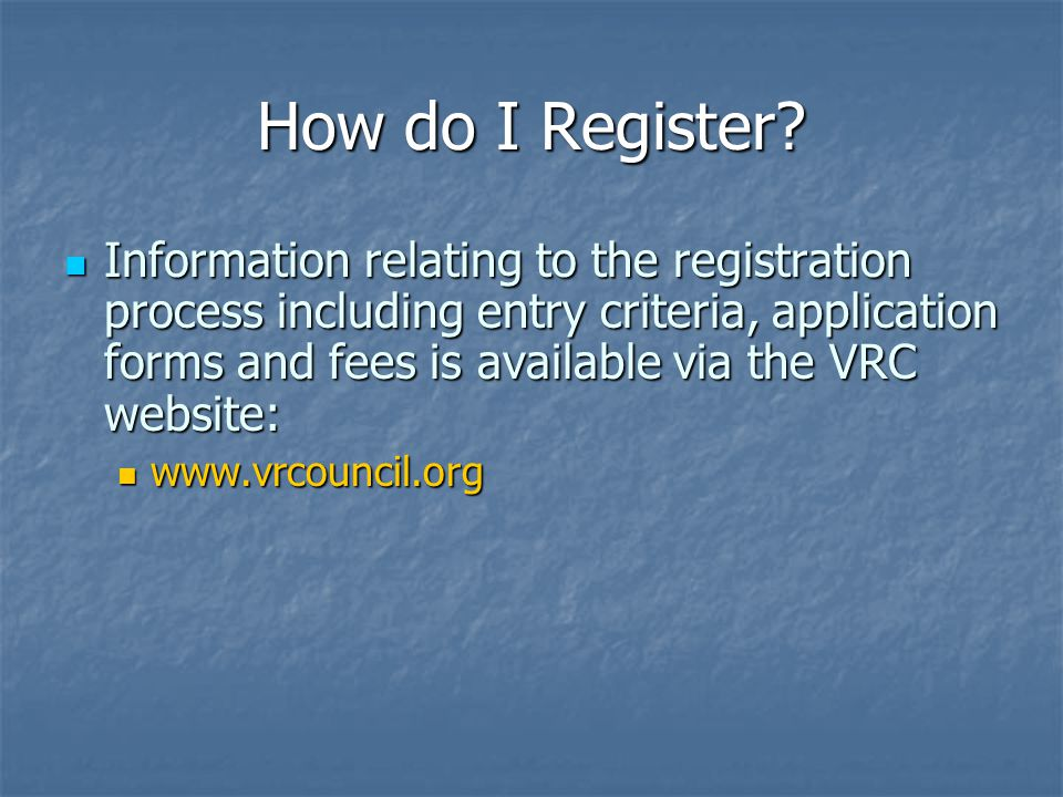 How do I Register.