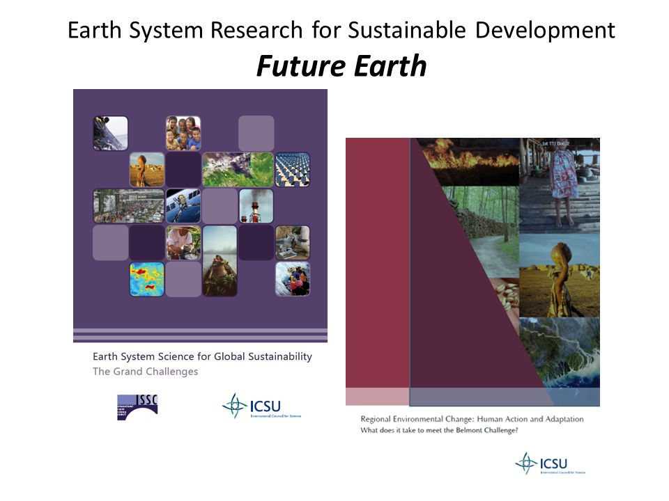 Earth System Research for Sustainable Development Future Earth