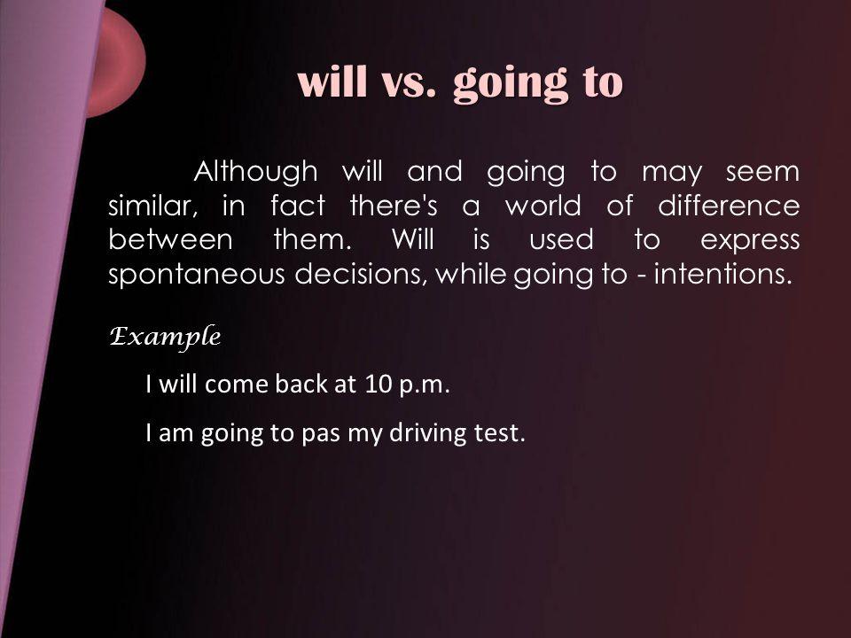 will vs.