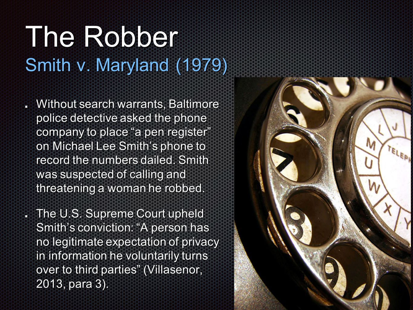 The Robber Smith v.
