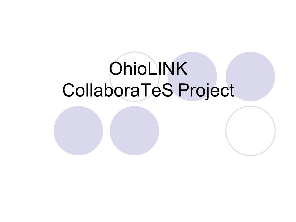 OhioLINK CollaboraTeS Project