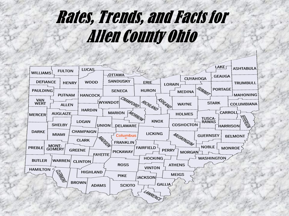 Rates, Trends, and Facts for Allen County Ohio