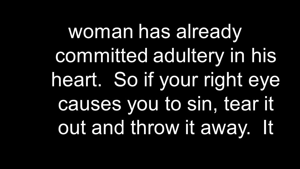 To use God's gift outside the context of marriage is to violate the operating instructions in the owner's manual.