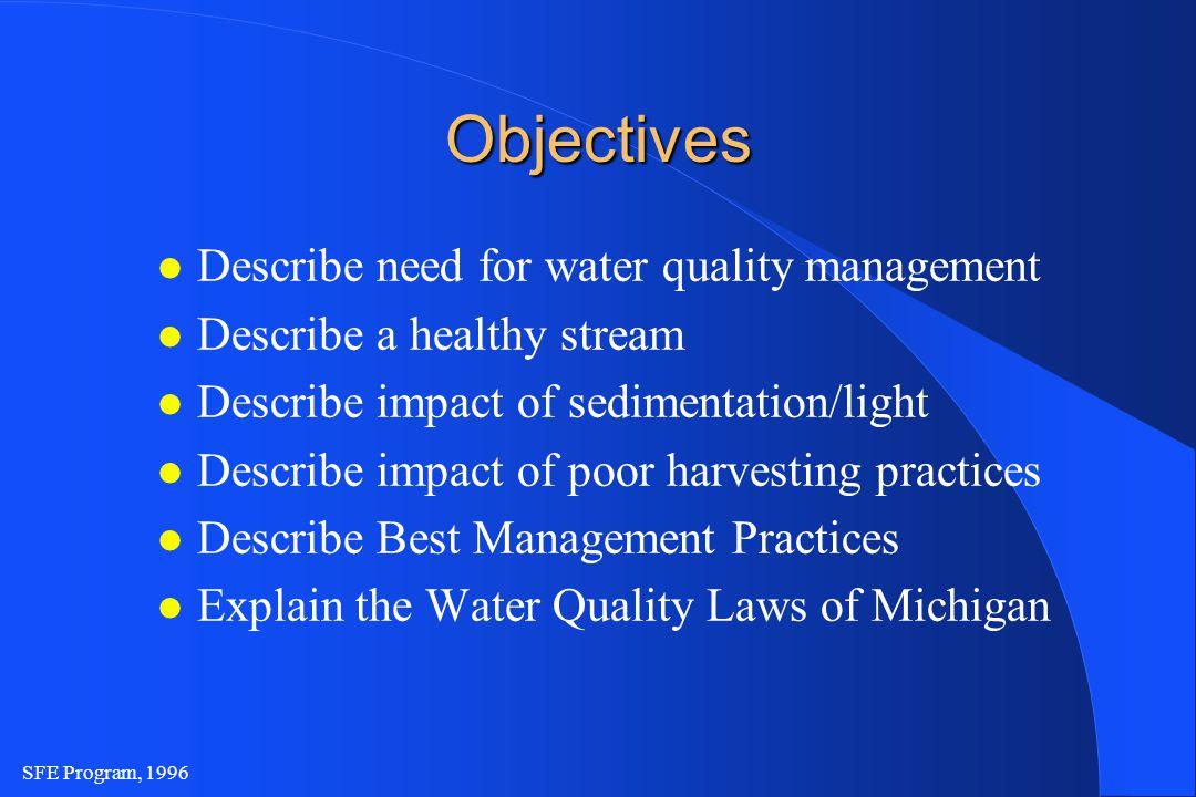 SFE Program, 1996 Inland Lakes and Streams Act (P.A.