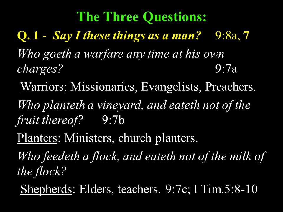 The Three Questions: Q.