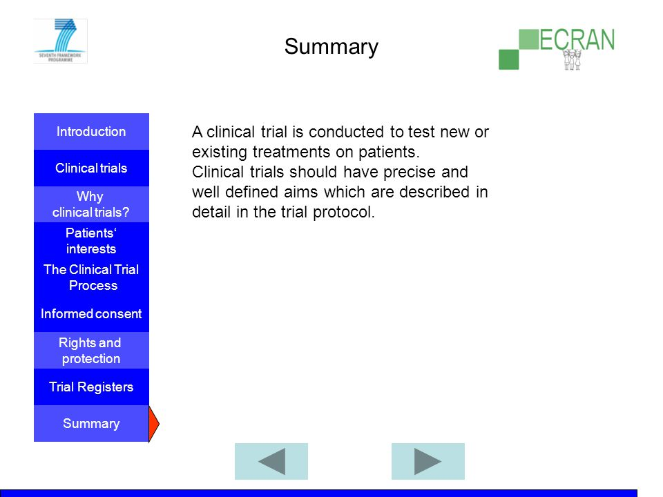 Introduction Clinical trials Why clinical trials.