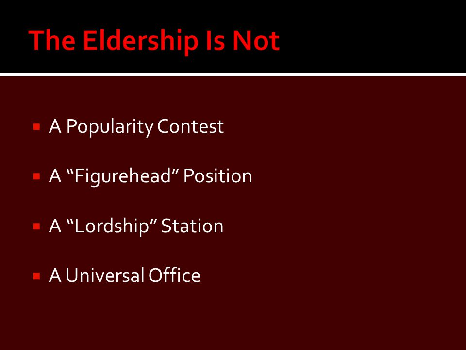  A Popularity Contest  A Figurehead Position  A Lordship Station  A Universal Office
