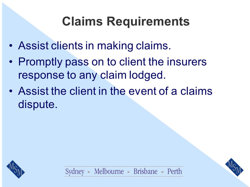 Broking Activity Requirements Only request information from insurers for covers that we manage*.