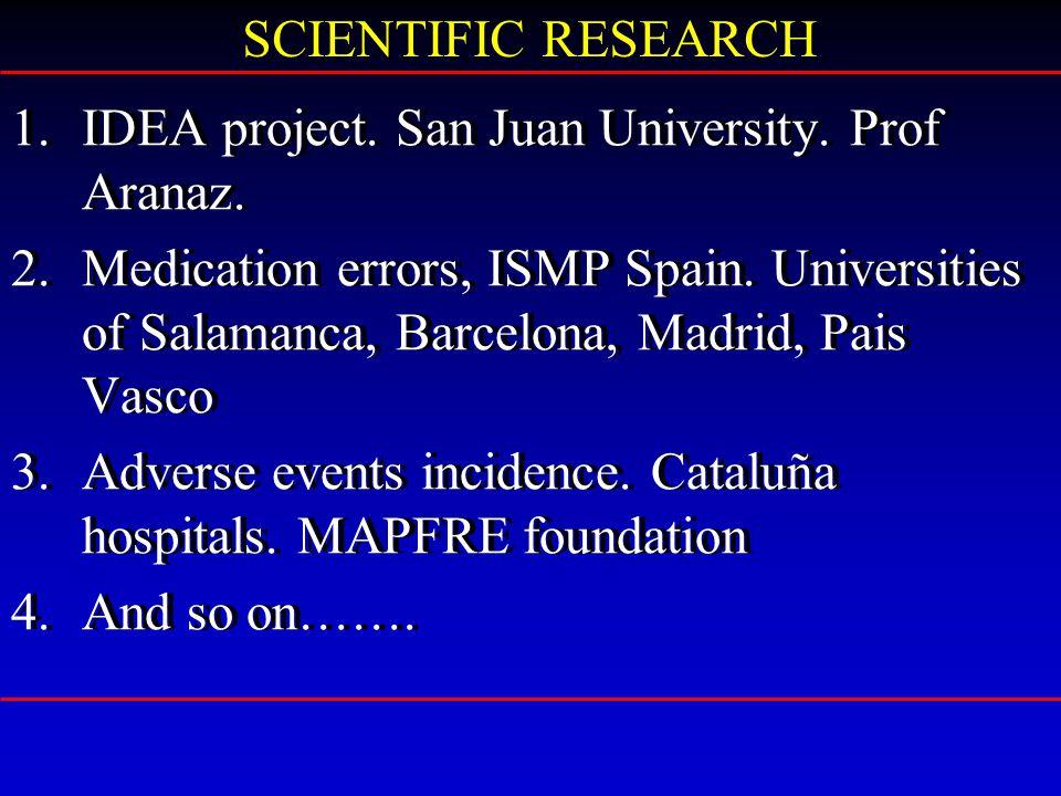 1.IDEA project. San Juan University. Prof Aranaz.