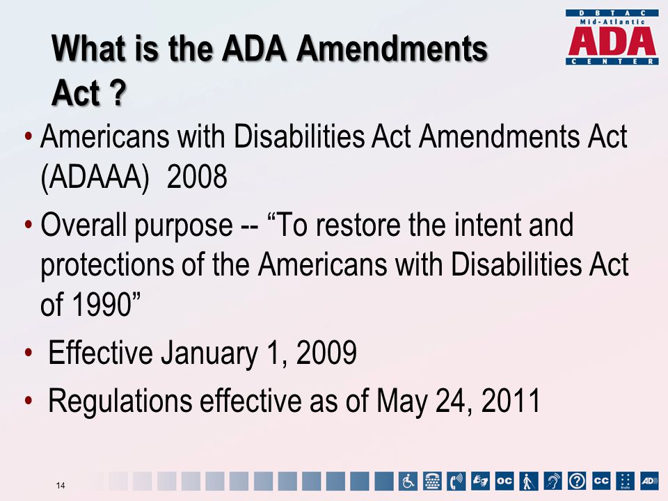 What is the ADA Amendments Act .