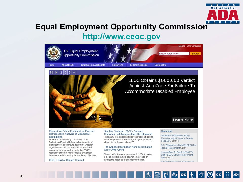 Equal Employment Opportunity Commission http://www.eeoc.gov 41