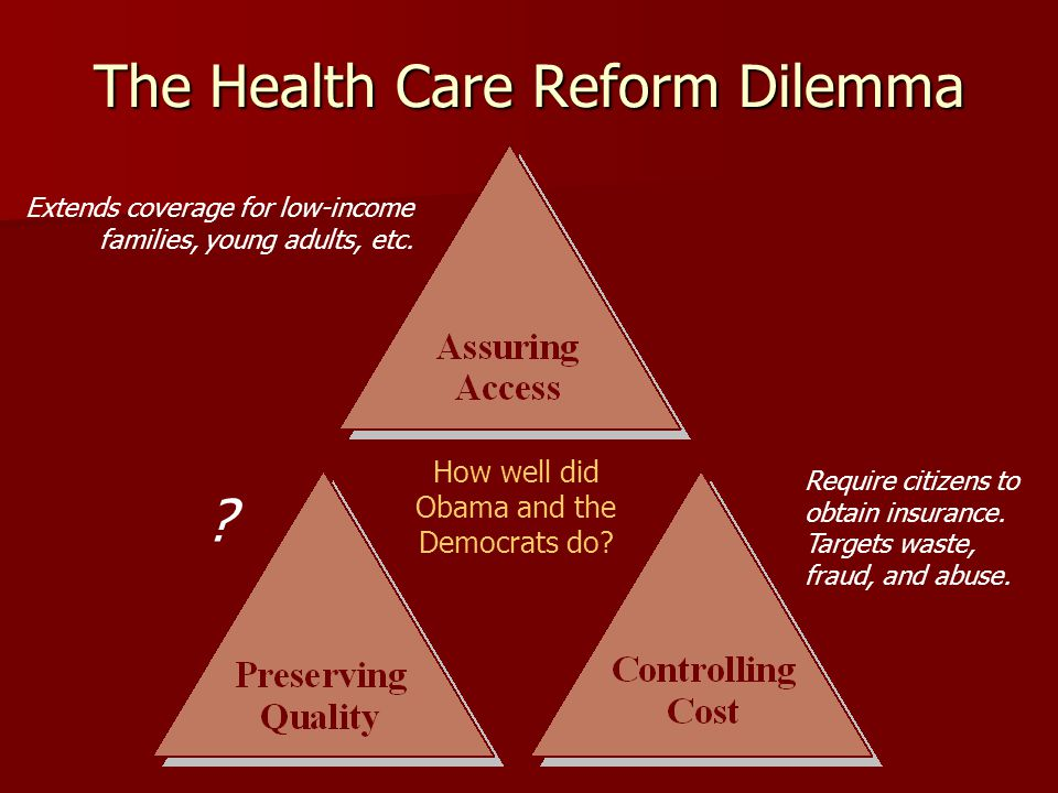 The Health Care Reform Dilemma How well did Obama and the Democrats do.