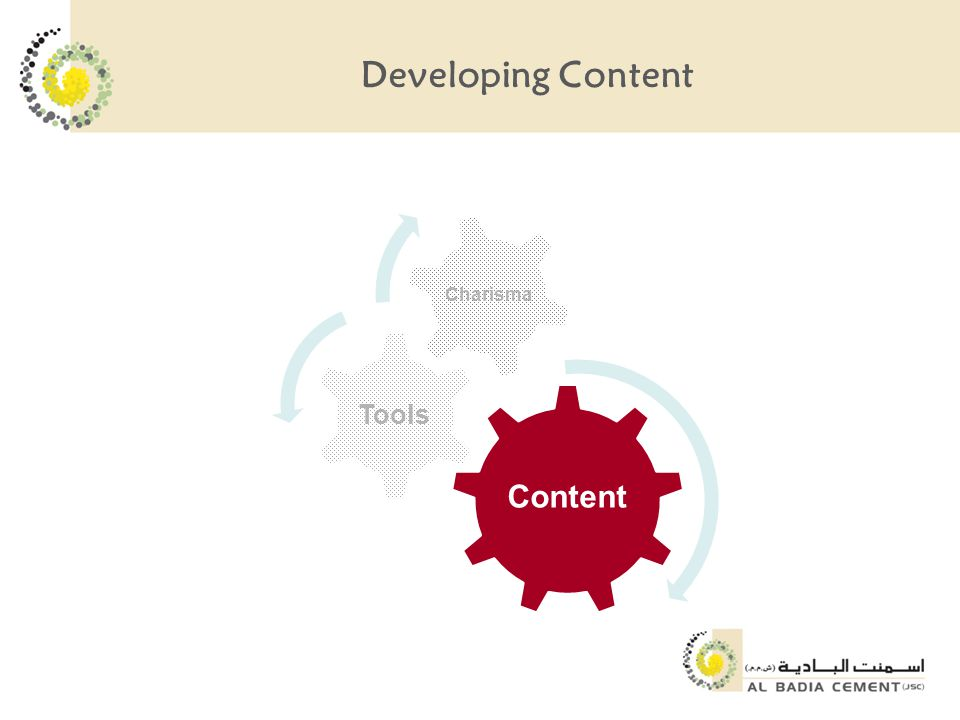 Developing Content Content Tools Charisma