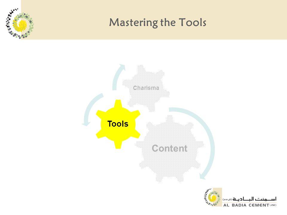 Mastering the Tools Content Tools Charisma