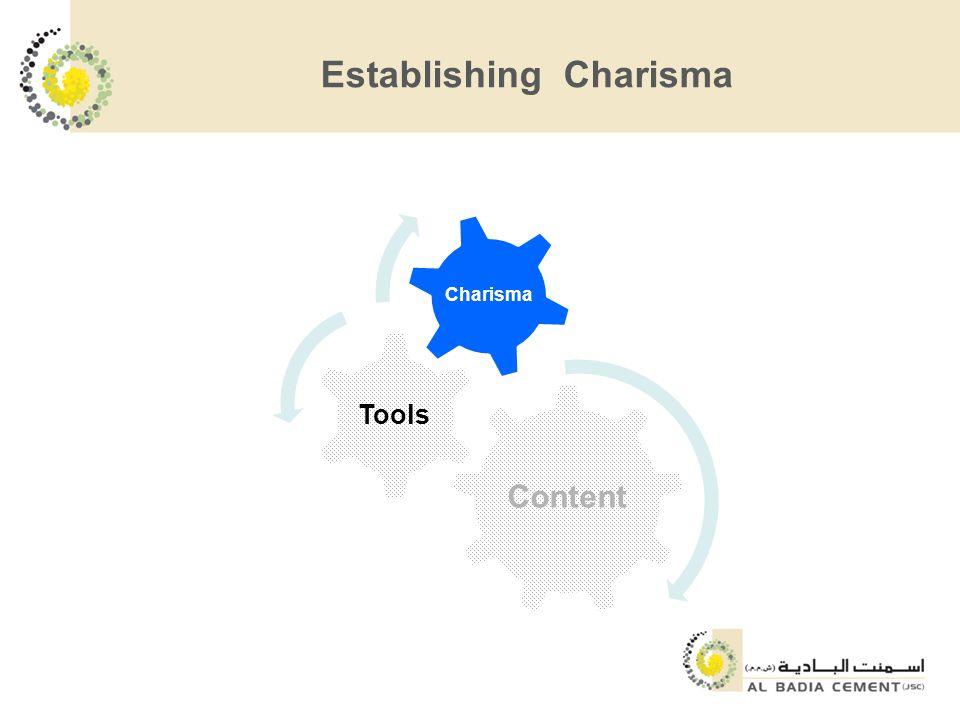 Establishing Charisma Content Tools Charisma