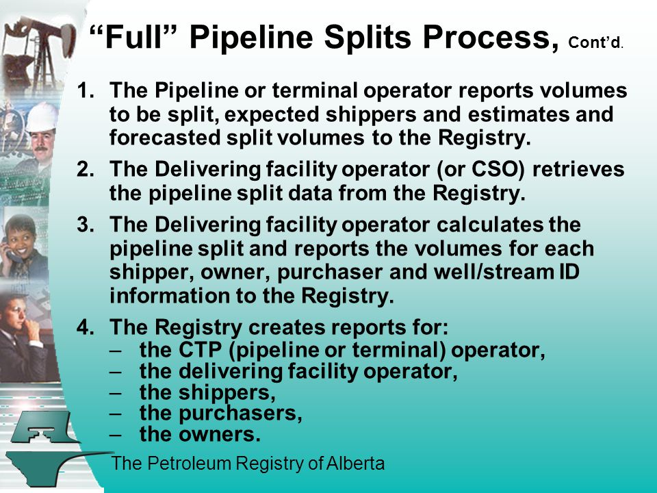 The Petroleum Registry of Alberta Full Pipeline Splits Process, Cont'd.